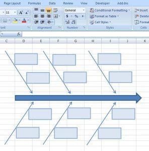 Creating Fishbone Diagram Template Excel 9 Diagram Powerpoint