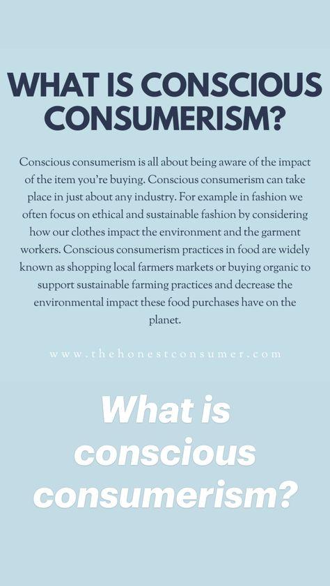 What is Conscious Consumerism?