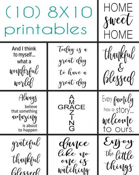24 Printable sayings to make your own wood signs | DIGITAL DOWNLOAD | PDF file