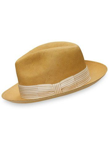 95aa97074a437 Navy straw fedora Super cute! I just don t love the way this style hat fits  me. Navy raffia with cream colored rope trim. Size medium …