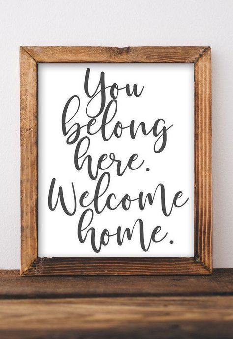 Printable Wall Art You belong here Welcome home printables DIY home decor entryway decor rustic farmhouse gallery living room printable art by GracieLouPrintables on etsy