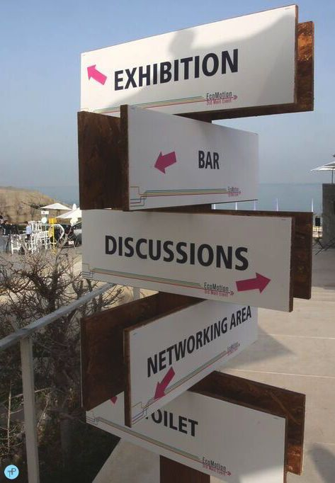 Cool signage is so important at a big event. // Tali Pais Events