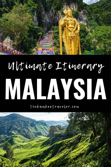 Malaysia Itinerary: 2 Weeks in Asia's Best-Kept Secret - The Bamboo Traveler | how to spend 2 weeks in Malaysia | where to go in Malaysia | Malaysia destinations | bucket list Southeast Asia | Southeast Asia travel | how to get around Malaysia | Malaysia travel guide | Malaysia itinerary 3 weeks | Kuala Lumpur | Melaka | Penang | Georgetown | Cameron Highlands | Ipoh | Langkawi | Koh Lipe | side trip to Thailand | best food in Malaysia #Malaysia #travel #itinerary #Asiatravel