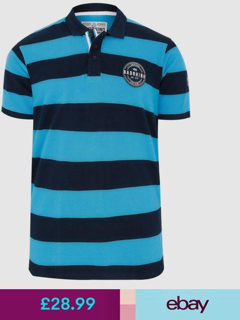 Ellesse Striped Polo Shirt in White /& Blue retro tennis style cotton Zepol