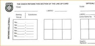 Image Result For Blank Volleyball Lineup Sheets Printable Template