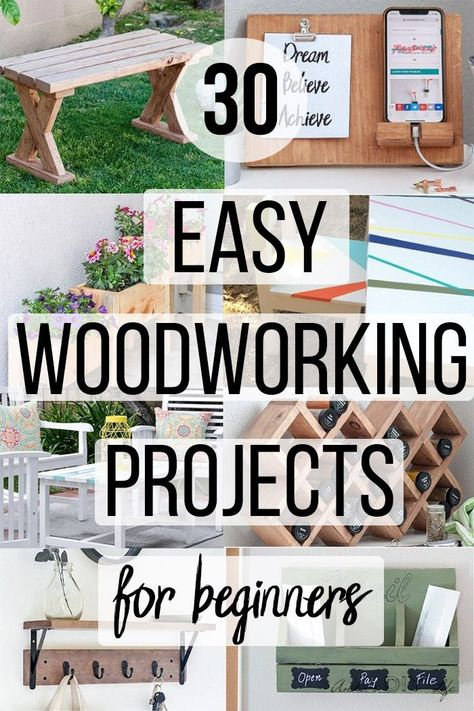 25 Easy DIY Wood Projects For Beginners That Are Absolutely Simple - Anika's DIY Life