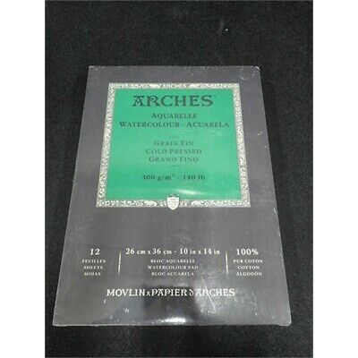Arches 1795093 Watercolor Paper Pad 140lb 300gsm Cold Pressed