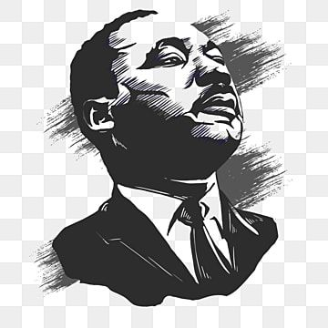 Martin Luther King Png Images Vector And Psd Files Free Download On Pngtree In 2021 Black And White Portraits Portrait Sketches Black And White Sketches
