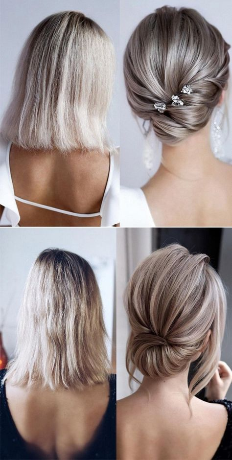 20 Medium Length Wedding Hairstyles For 2021 Brides Emmalovesweddings Medium Hair Styles Medium Length Hair Styles Short Hair Updo