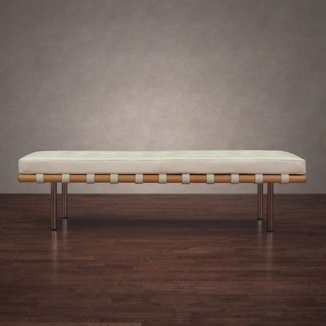 Fantastic Strick Bolton Andalucia Modern White Leather Bench Large Ocoug Best Dining Table And Chair Ideas Images Ocougorg