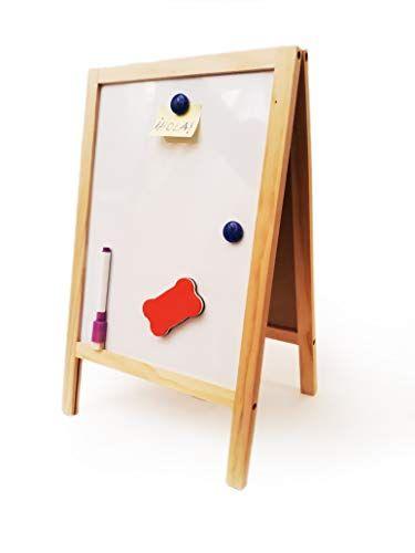 Anjm Pizarra Doble Cara De Tiza Y Magnetica Tablero De Dibujo Para Ninos Y Adultos Con Caballete Ofertas Tablero De Dibujo Pizarra Pizarra Magica