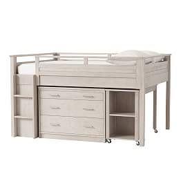 Waverly Loft Storage Desk Set In 2020 Low Loft Beds Loft Bed Plans Bedding Sets