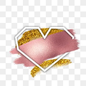 Rose Gold Shiny Pink Heart Border Frame Png Luxury Gold Png And Psd In 2020 Rose Gold Painting Pink Roses Background Free Frames