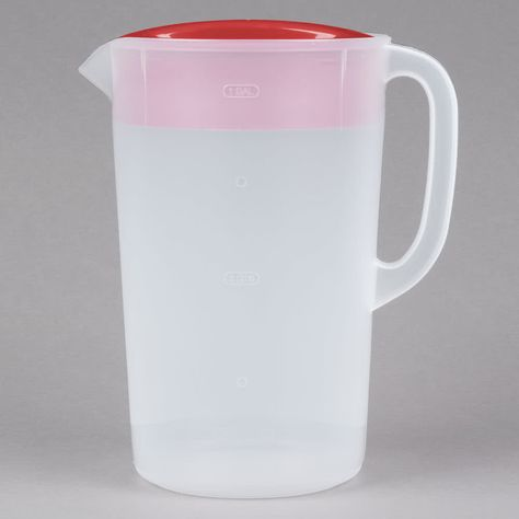 Rubbermaid 1978082 1 Gallon Plastic Pitcher With Lid With Images Rubbermaid Pitcher Gallon