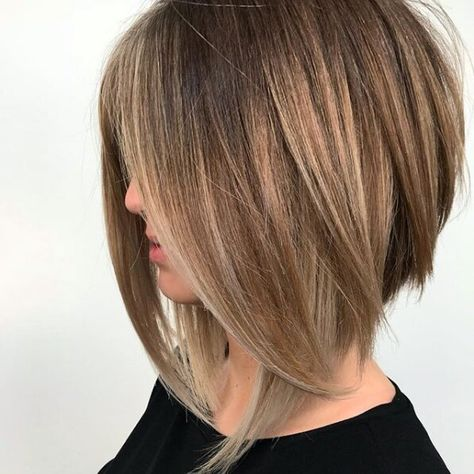 Right now, we're lusting over any and every angled lob we can feast our eyes on. If you're ready for a fresh and fabulous new 'do, these long angled bob hairstyles will do the trick. Inverted Bob Hairstyles, Long Bob Haircuts, Layered Haircuts, Pixie Haircuts, Braided Hairstyles, Korean Hairstyles, Men Hairstyles, Celebrity Hairstyles, Bob Haircut Long