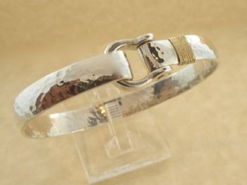 knits gp st swarovski vintage i bracelet bangle textured gold john