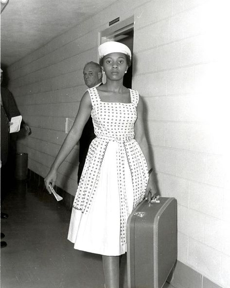 Her name is Annie Lumpkins and she was a Freedom Rider. She is pictured at the city jail in Little Rock July 10, 1961. She believed in your Right to Vote so much that she went to jail.  #Vote