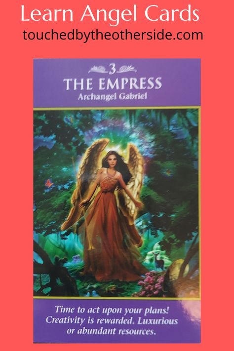 The Empress Archangel Gabriel brings you this card to encourage you to create. Now is the time to manifest beautiful things. If you would like to learn more about Angels please visit. touchedbytheotherside.com #angels #angelcards #tarotcards #psychic #psychicreadings #mediumship #angelhealing #energyhealing #heaven #spiritual