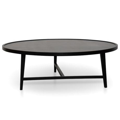 Joey 110cm Round Coffee Table Black