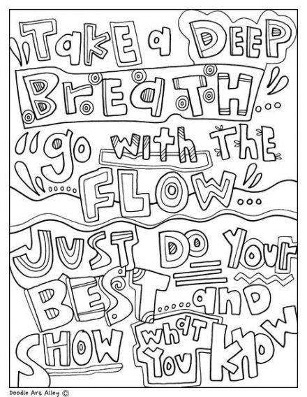 67 Ideas For Doodle Art Quotes Draw Coloring Pages Quote Coloring Pages Testing Encouragement Coloring Pages