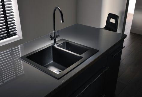 black kitchen sink, black counter Kitchen Pinterest Black - wellmann küchenschränke nachkaufen