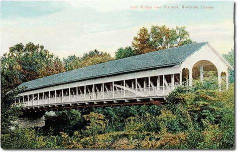 East Hill Bridge over the Flatrock River, Rushville Indiana