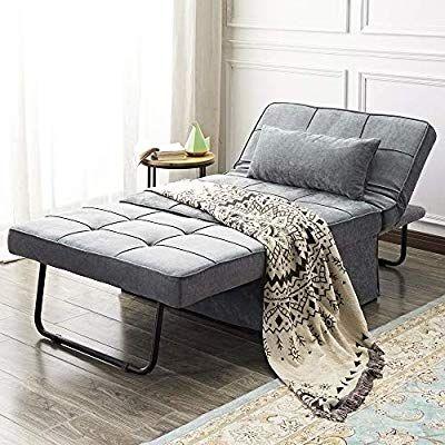 Vonanda Ottoman Folding Chair Bed Modern Velvet Sleeper Sofa