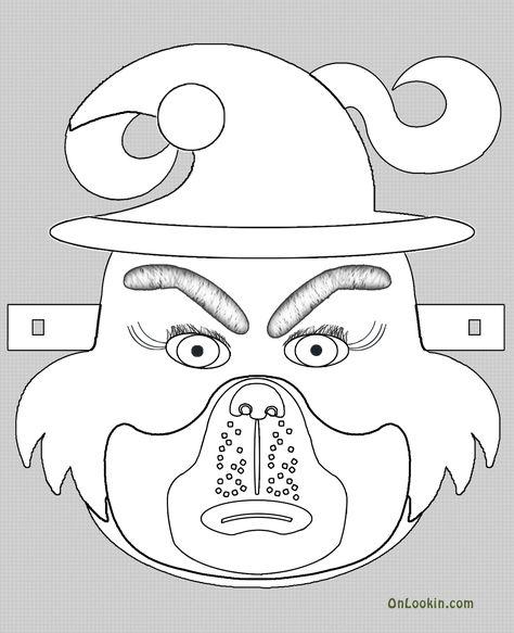 Grinch Santa Face Mask Cut Out A4 Education Grinch Mask Santa Face Grinch Christmas Party