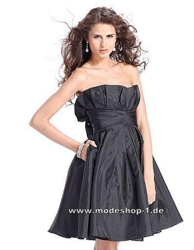 sale retailer f8319 7315e Abendkleid Cocktailkleid in Schwarz Schulterfrei   black ...