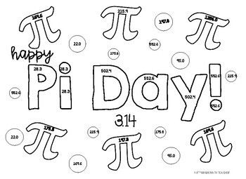 Pi Day Volume Of Cylinders Color Page Pi Day 8th Grade Math