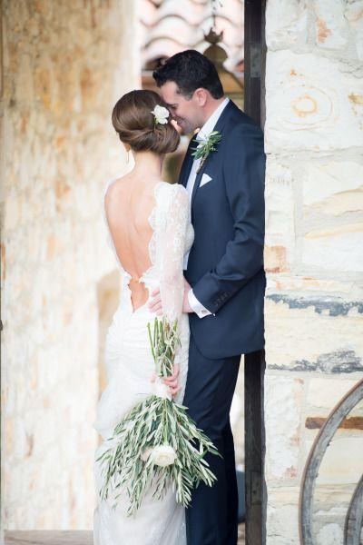California bride and groom: http://www.stylemepretty.com/california-weddings/carmel-valley/2014/10/22/rainy-spring-wedding-at-holman-ranch/ | Photography: Stacey Pentland - http://www.staceypentlandphoto.com/
