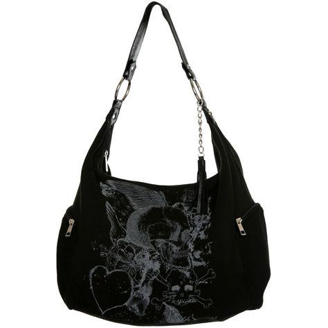 Designer Clothes, Shoes & Bags for Women Skull Fashion, Dark Fashion, Emo Fashion, Fashion Bags, Gothic Accessories, Fashion Accessories, Skull Purse, Purses And Handbags, Black Handbags