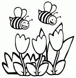 Ari Boyama Sayfasi Spring Coloring Pages Bee Coloring Pages
