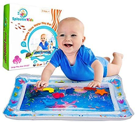 Amazon Com Splashin Kids Inflatable Tummy Time Premium Water Mat Infants Toddlers Is The Perfect Fun Time Play Activity Tummy Time Mat Baby Toys Tummy Time