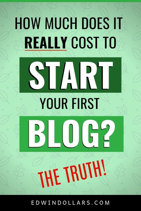 How Much Does It Cost To Start A Blog? (With images) | How ...