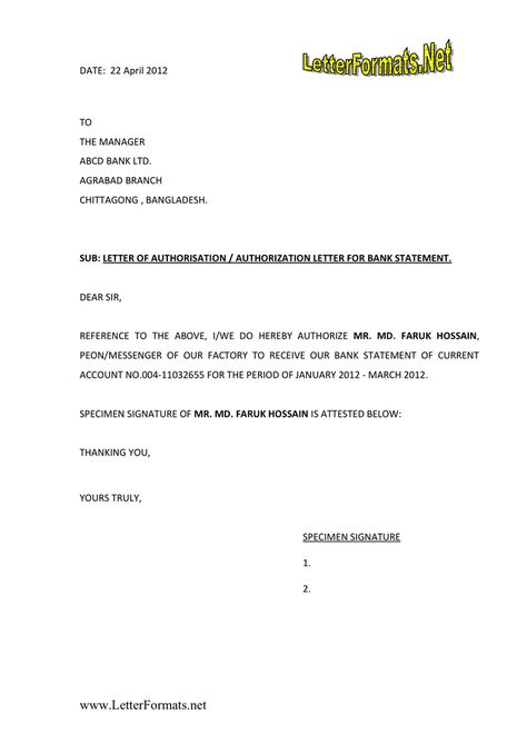 authorization letter format word and pdf formats docstoc docs - authorization letters sample