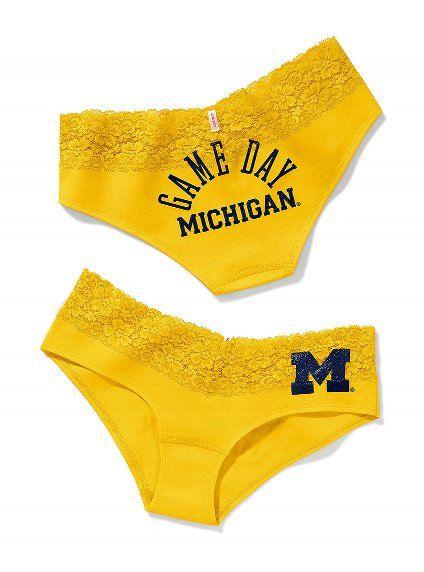 University Of Michigan Thong Panties Gif