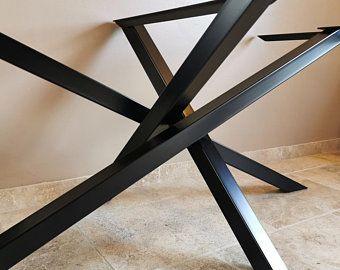 Meuble Bois Et Metal Style Industriel Par Industrielstyle Sur Etsy Rectangular Table Table Rectangular