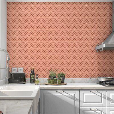 Brayden Studio Hajo Jute Peel And Stick Wallpaper Panel Color Peach Size 120 H X 24 W X 0 1 D In 2020 Wallpaper Panels Peel And Stick Wallpaper Brayden Studio