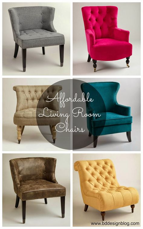 Unique AND Affordable Living Room Chairs. So many great ones. www.bddesignblog.com #worldmarket