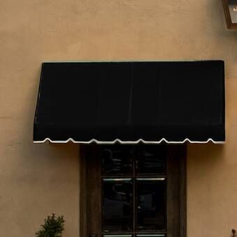 Awnings In A Box Classic 4 Ft W X 2 Ft D Fabric Retractable Standard Window Awning Window Awnings Custom Awnings Door Awnings