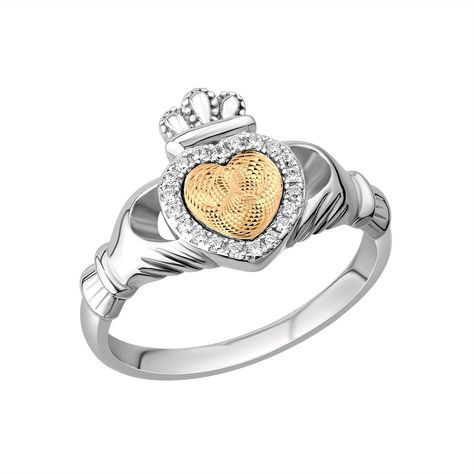 Solvar Jewelry Moving Heart Claddagh Ring Jewelry Rings at Irish on Grand