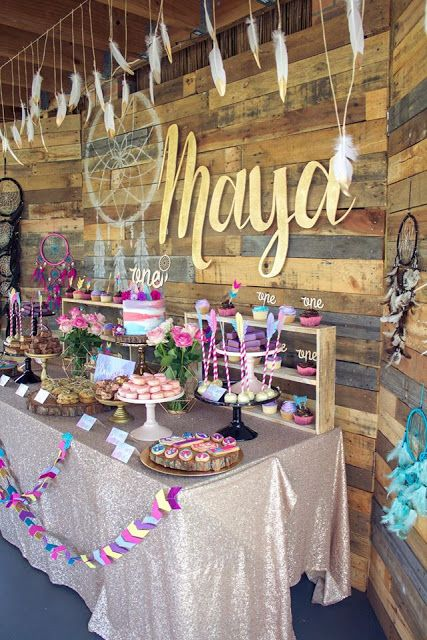 From Pretty Feather Cookies To Ice Cream Hued Dream Catchers This Darling Boho Chic Birthday Party By RockPaperScissors Is Filled With Lovely Idea