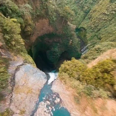 Madakaripura waterfall 🤯 200 meters