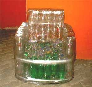 Poltrona Bottiglie Di Plastica.Artigianato E Riciclo Come Fare Una Sedia Con Bottiglie Pet Con