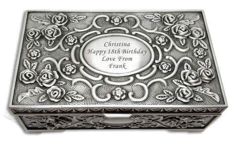 Personalised Engraved Trinket Box Christmas Gift Wedding Birthday Gift