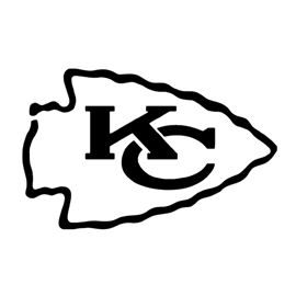 Nfl Kansas City Chiefs Stencil Kansas City Chiefs Logo Chiefs