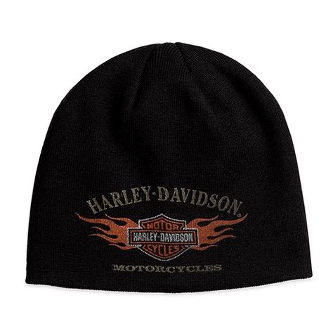 Harley Davidson Beanie Mütze Modell Circle Skull