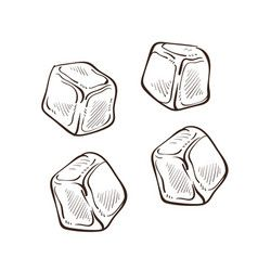 Ice Cubes Royalty Free Vector Image Vectorstock Ice Cube Drawing Ice Cube Sketches