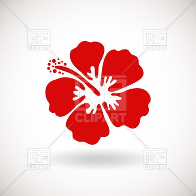 Red Hibiscus Flower On White Background 95872 Download Royalty Free Vector Clipart Eps Vector Artwork Free Vector Clipart Vector Free